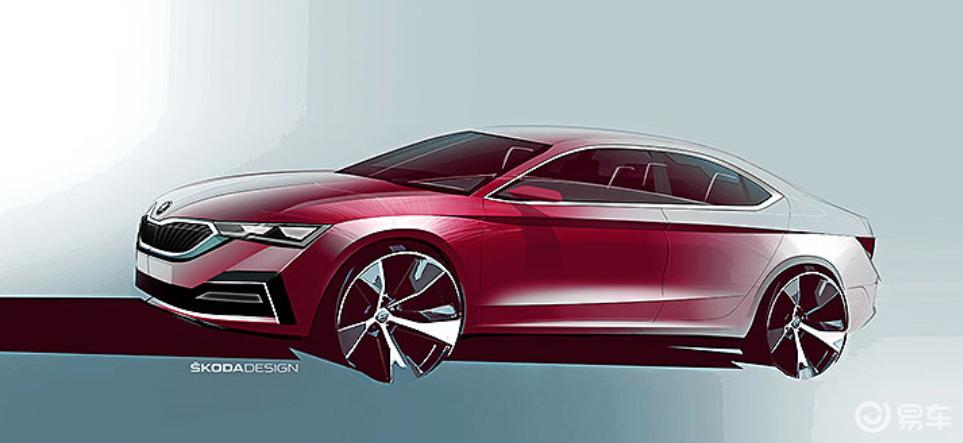 全新改款明锐草图公开,斯柯达这是拿奥迪A7当参考对象?